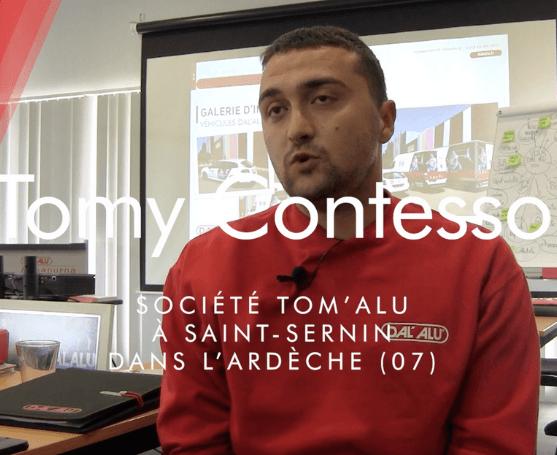 Témoignage : rencontrez Tomy Contesso qui a rejoint le réseau de franchise Dal'alu il y a six mois
