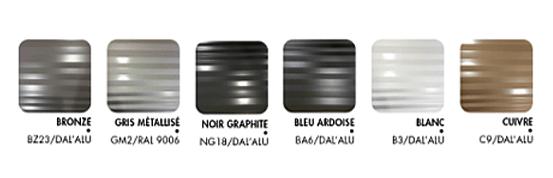 Gouttiere INOA aluminium esthétique effet matiere